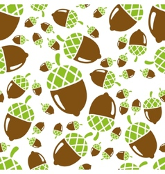 Acorn seamless pattern vector