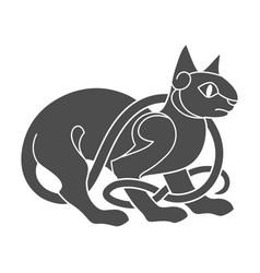 ancient celtic mythological symbol cat vector image