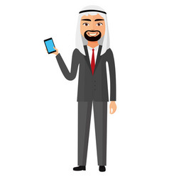 Arab palestine person business man vector