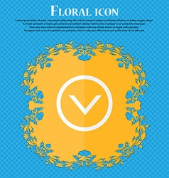 Arrow down Download Load Backup Floral flat vector