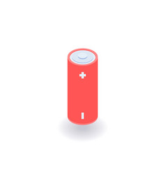 Battery isometric icon vector