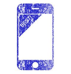 Best telephone textured icon vector