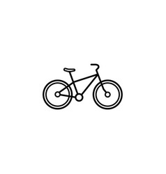 Bicycle line icon navigation and transport sign vector