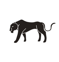 black tiger or lioness graphic vector image