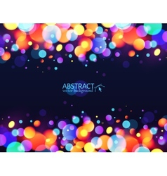 Bright colorful bokeh light effect holiday vector