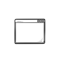 browser hand drawn outline doodle icon vector image