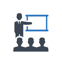 Business lecture icon vector