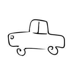 car hand drawing vector image
