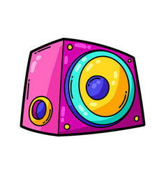 cartoon musical subwoofer vector image
