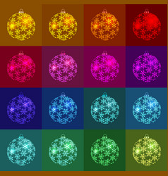 christmas new year s multi-color balls the color vector image