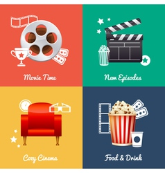 Cinematography set square movie banners vector