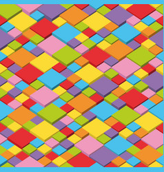 colorful isometric seamless pattern vector image