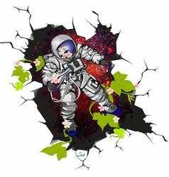Cosmonaut art vector