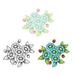 daisy five flowers bouquet vector image