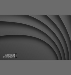 dark gray paper curve shadow background card vector image