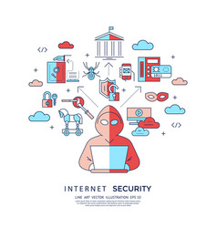 Digital blue internet security data vector