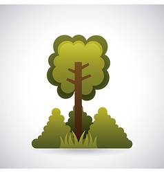 Ecology design over gray background vector image