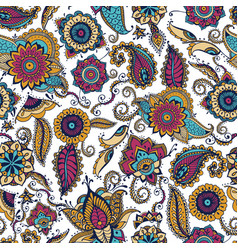 Elegant paisley seamless pattern with colorful vector