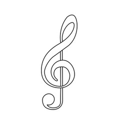 Emblem music symbol icon vector