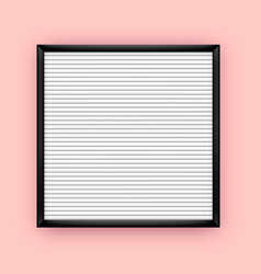 Empty white letterboard for plastic letters vector