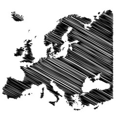 europe map scribble concept design isolated on vector image