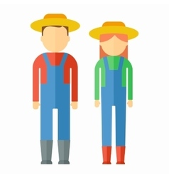 Farmers color icon vector