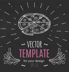 Fast food menu design template hand drawn vector