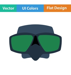 Flat design icon of scuba mask vector image