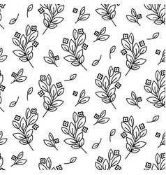 foliage branches floral seamless simple vector image