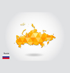 geometric polygonal style map of russia low poly vector image