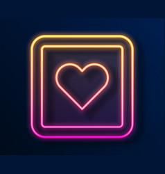 Glowing neon line like heart icon isolated vector