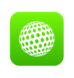 golf ball icon green vector image