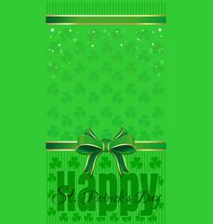 Green festive background for st patricks day vector