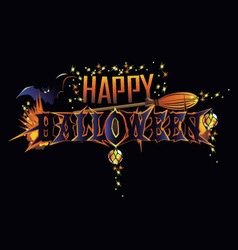 Happy Halloween greeting inscription vector image vector image