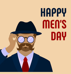 happy men day concept background cartoon style vector image