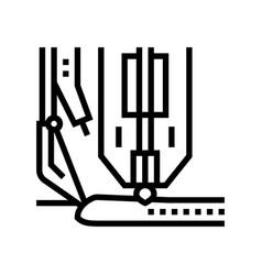 Hyperbaric welding line icon vector