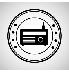 Icon radio news sound design graphic vector