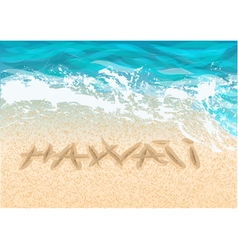 inscription hawaii vector image