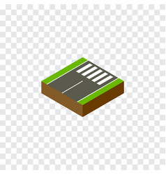 Isolated foot-slogger isometric footer vector