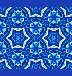 Kaleidoscope bright blue star background vector