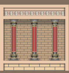 Knossos palace architecture elements wall and vector
