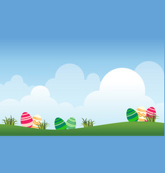 landscape of easter and cloud vector image