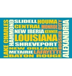 Louisiana state cities list vector
