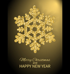 merry christmas happy new year cover design poster vector image