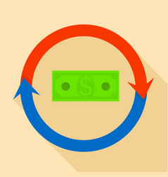 Money exchange icon flat style vector