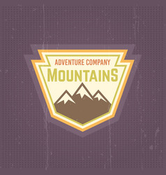 mountains vintage colored label vector image