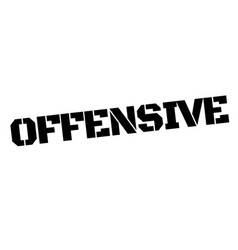 Offensive black stamp vector