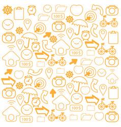 orange icon on white background vector image