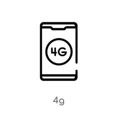 Outline 4g icon isolated black simple line vector