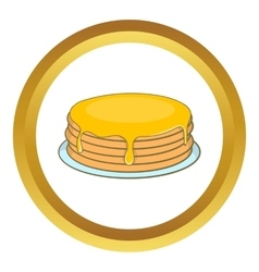 Pancakes with honey icon vector
